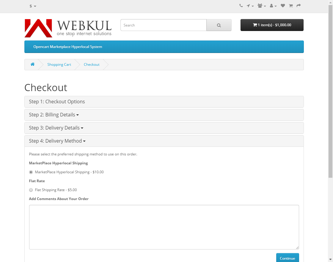 webkul-opencart-marketplace-hyperlocal-system-module-seller-product-checkout-four