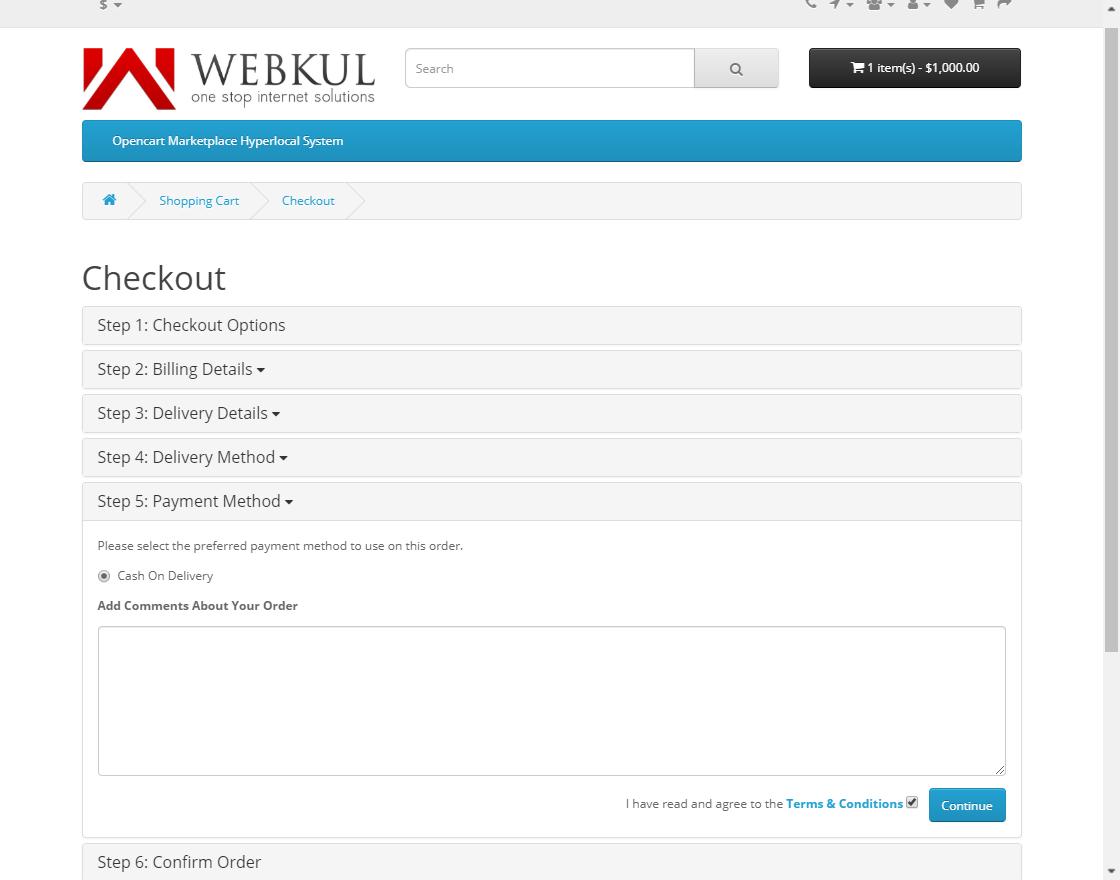 webkul-opencart-marketplace-hyperlocal-system-module-seller-productcheckout-five