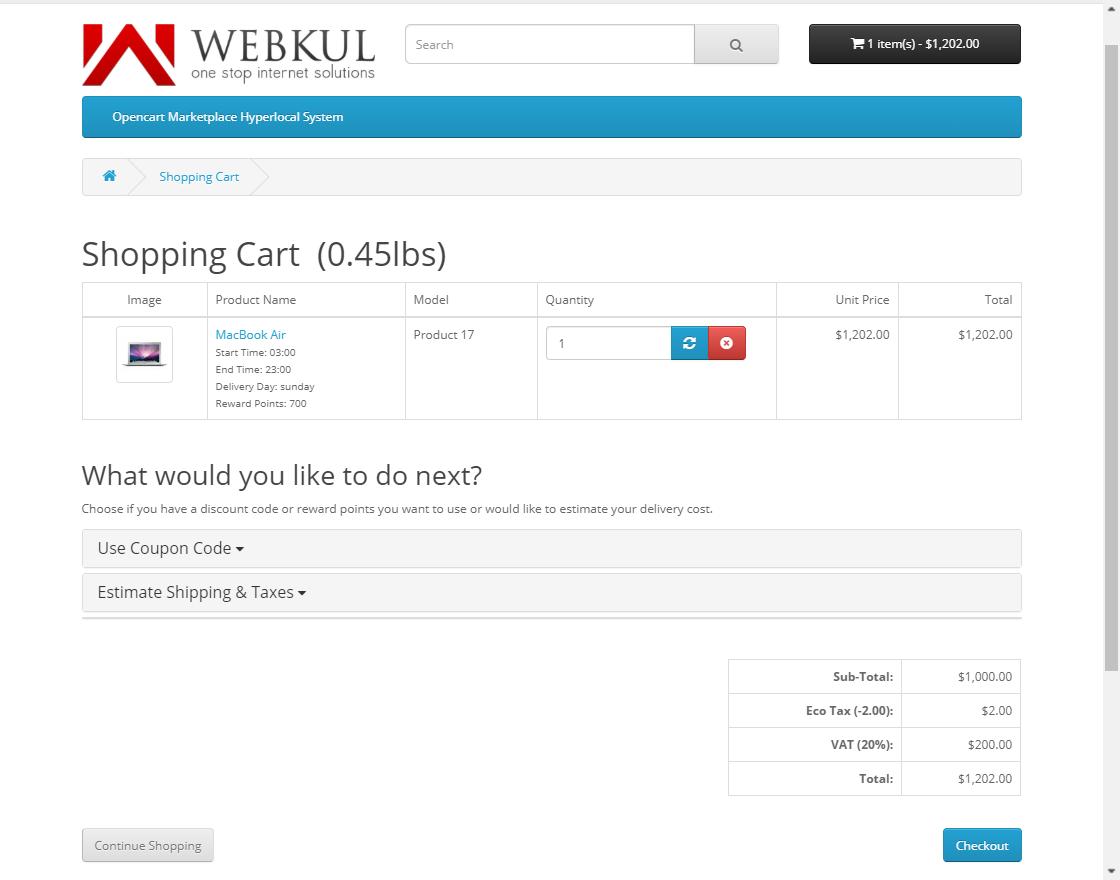 webkul-opencart-marketplace-hyperlocal-system-module-seller-productcheckout-one