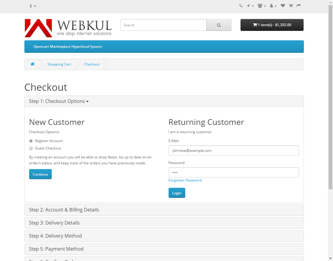 webkul-opencart-marketplace-hyperlocal-system-module-seller-productcheckout-two