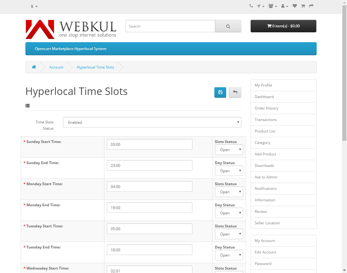 webkul-opencart-marketplace-hyperlocal-system-module-seller-time-slot