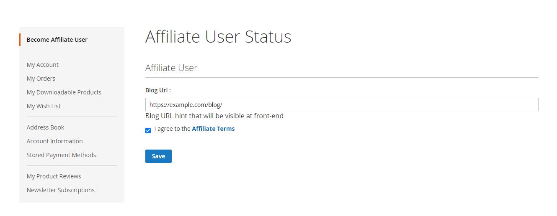 Webkul-Magento2-Affiliate-System-Affiliate-Become-Affiliate-User-Provide-Blog-URL