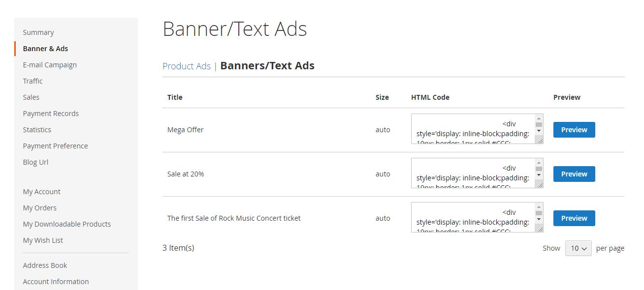 Webkul-Magento2-Affiliate-System-Affiliate-Text-Ads