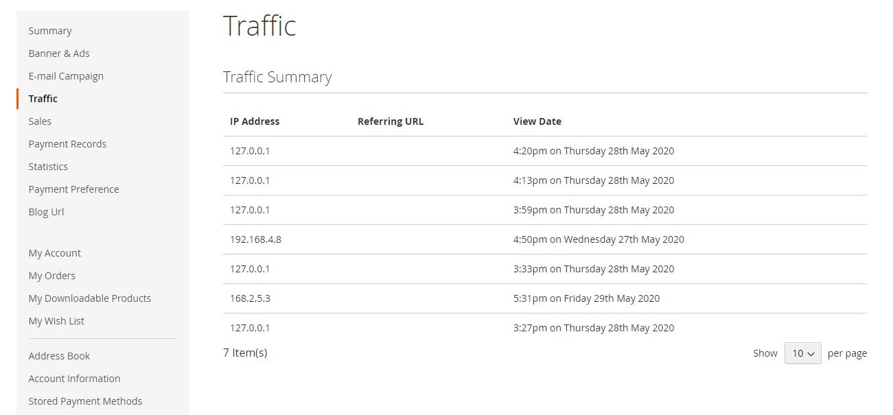 Webkul-Magento2-Affiliate-System-Affiliate-Traffic