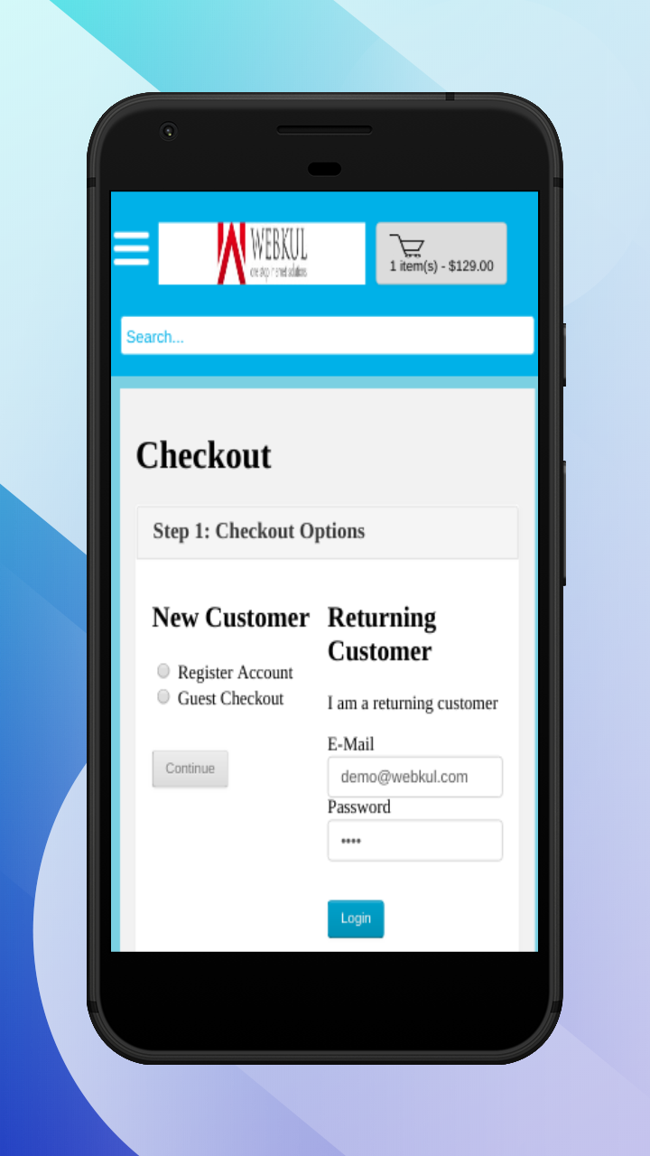 OpenCart Accelerated Mobile Pages-login1