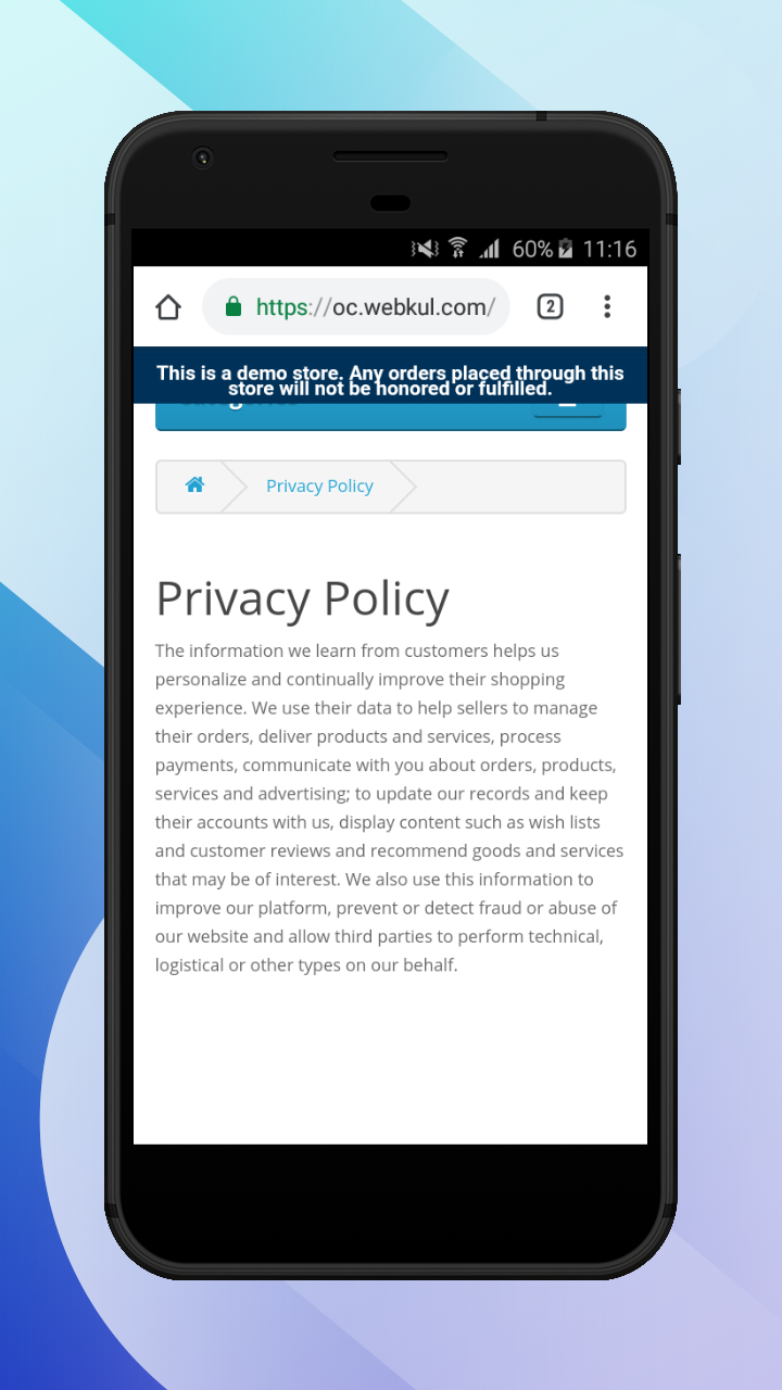 OpenCart Accelerated Mobile Pages-privacy_policy