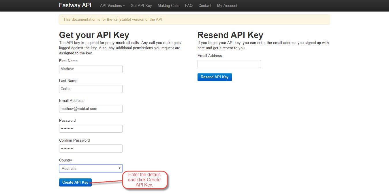 Webkul-magento2-fastway-shipping-Get-your-API-key