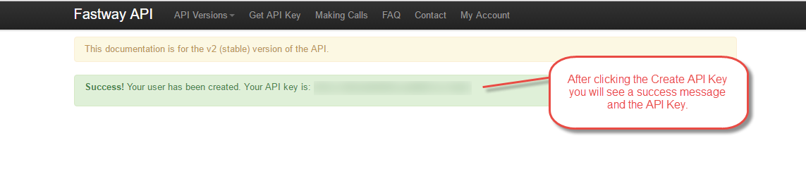 Webkul-magento2-fastway-shipping-Success-message-Api-key