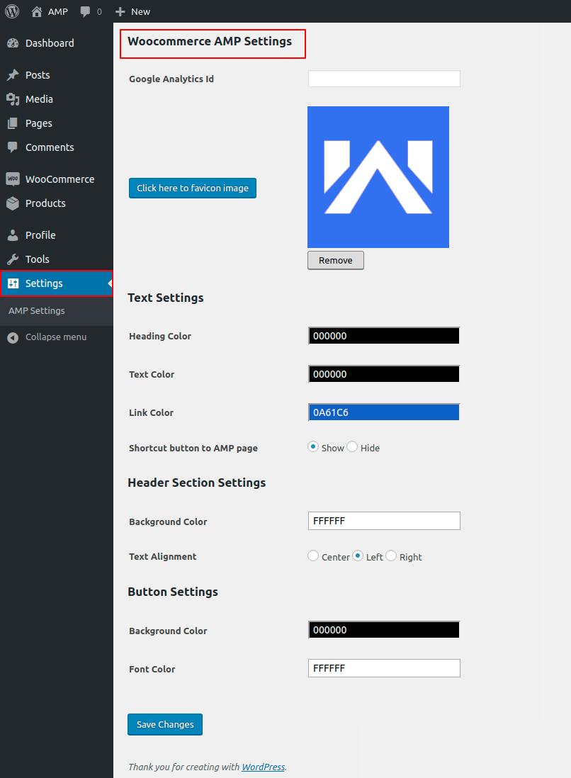 WordPress WooCommerce AMP