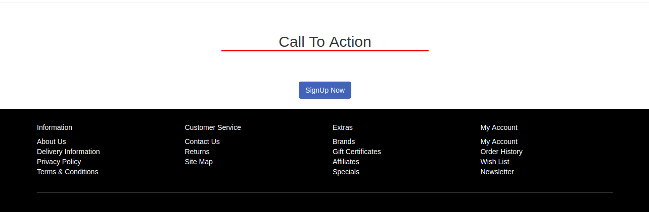 call to action front-end