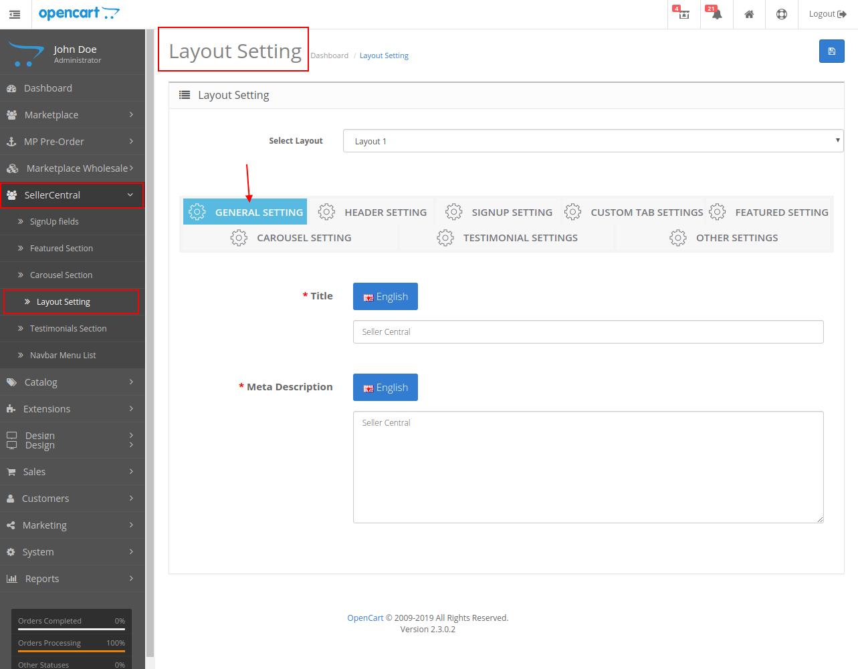 layout setting management