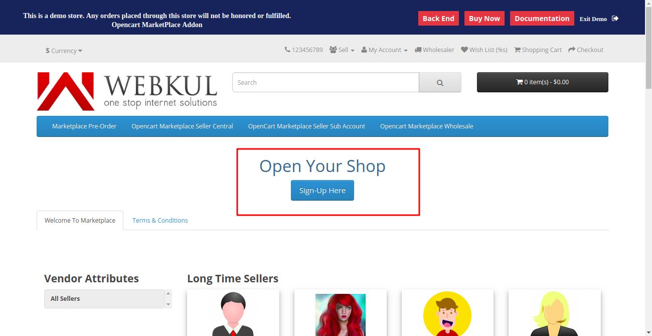open your shop