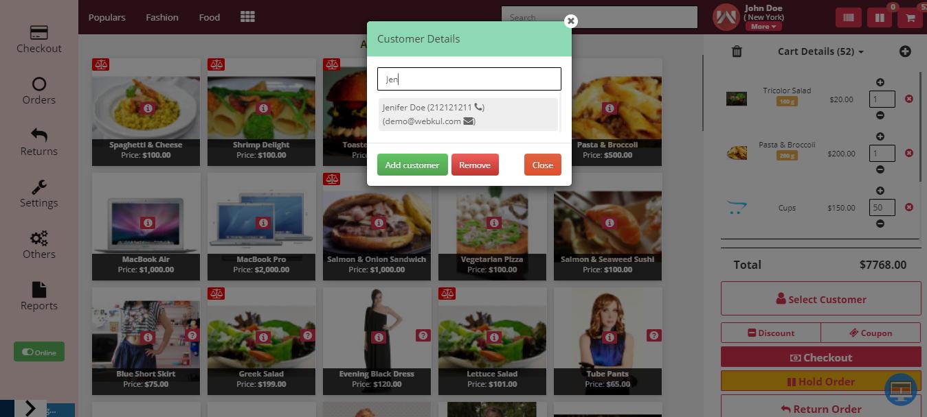 webkul-opencart-point-of-sale-select-customer