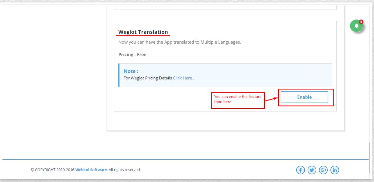 Enable Weglot Translation