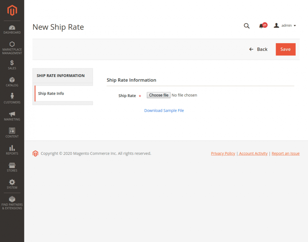 Magento2 Marketplace Hyperlocal System_new_ship_rate
