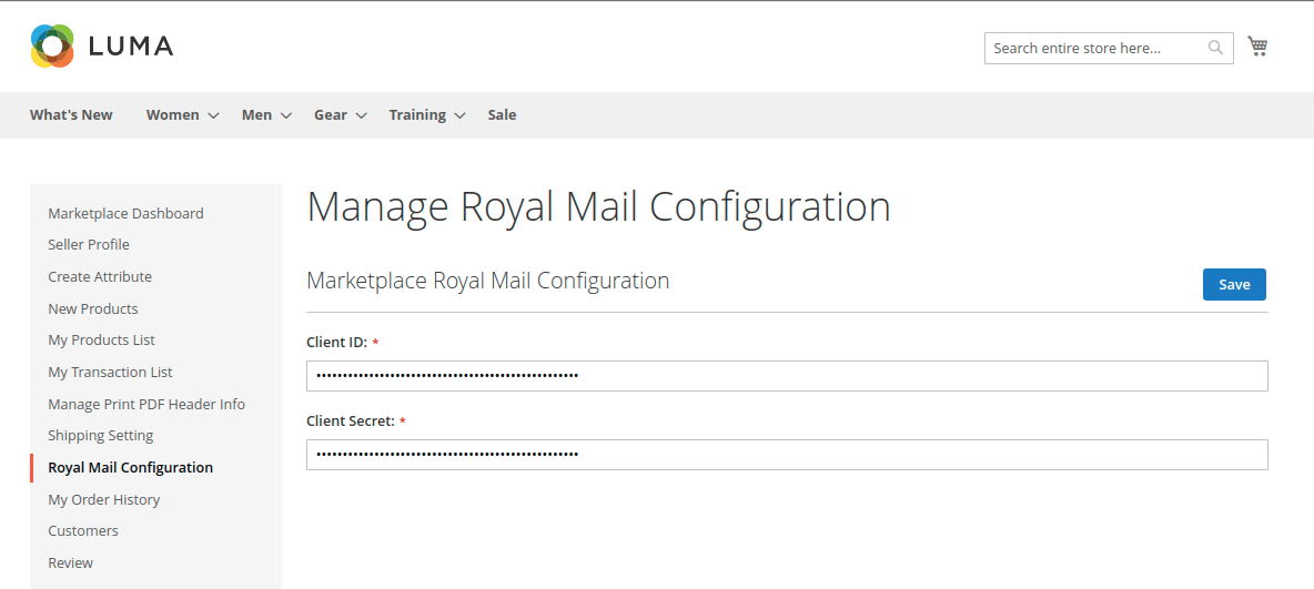royal mail credential