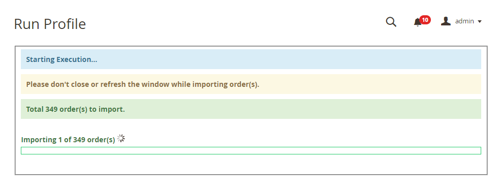 create imported orders
