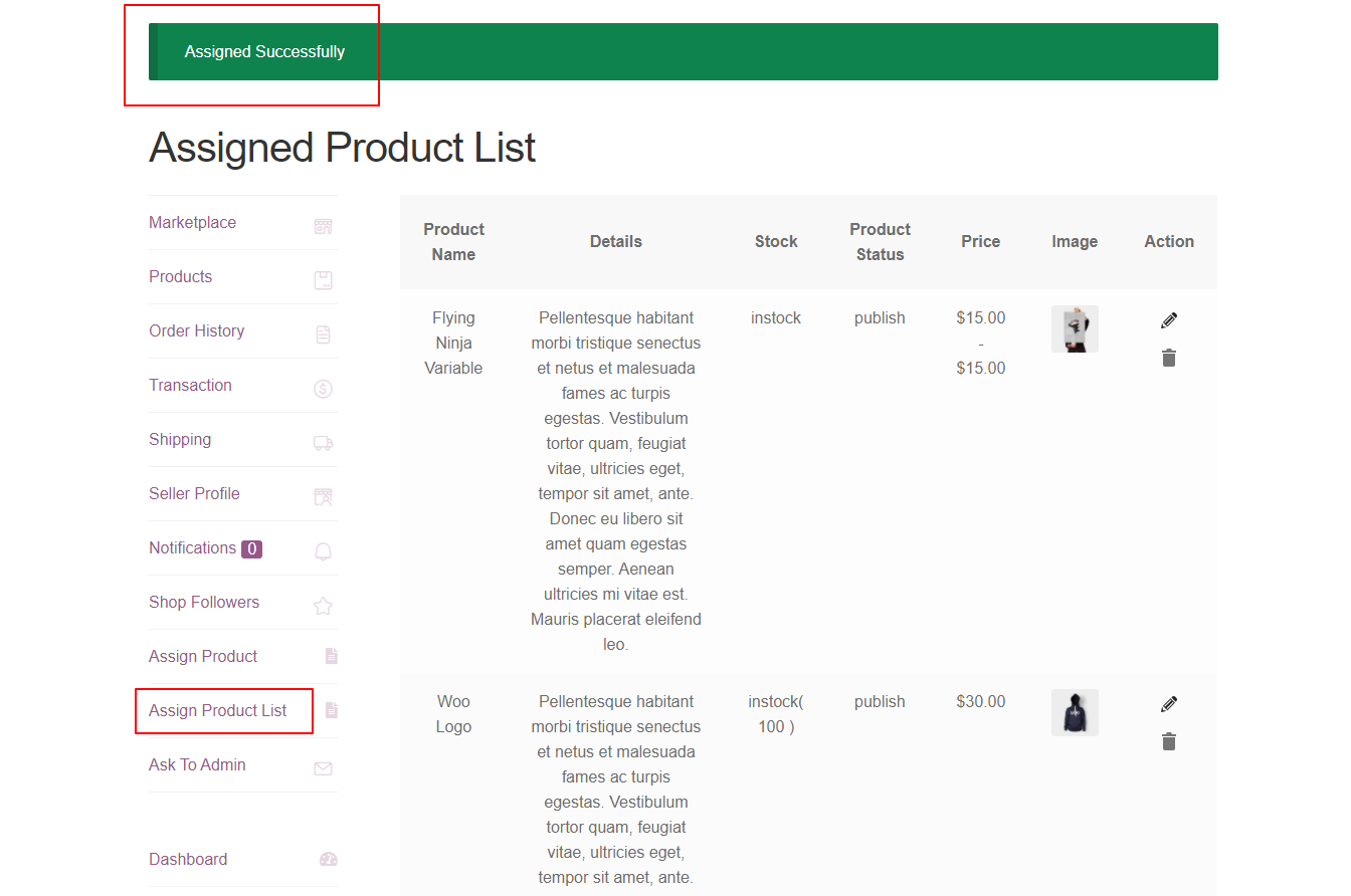 webkul-woocommerce-marketplace-single-seller-request-product-list