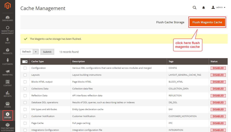 Magento2 Cache Management
