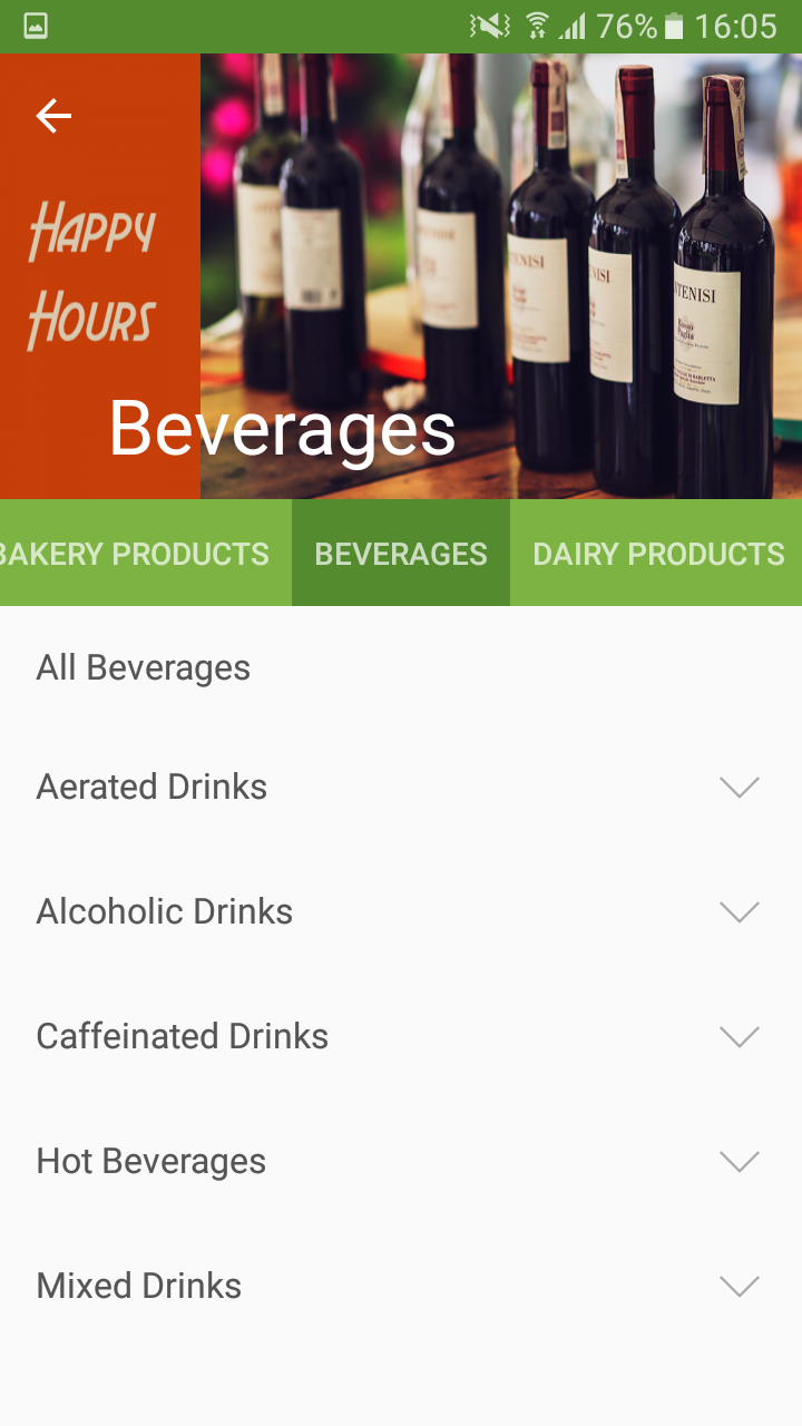 categories and the product