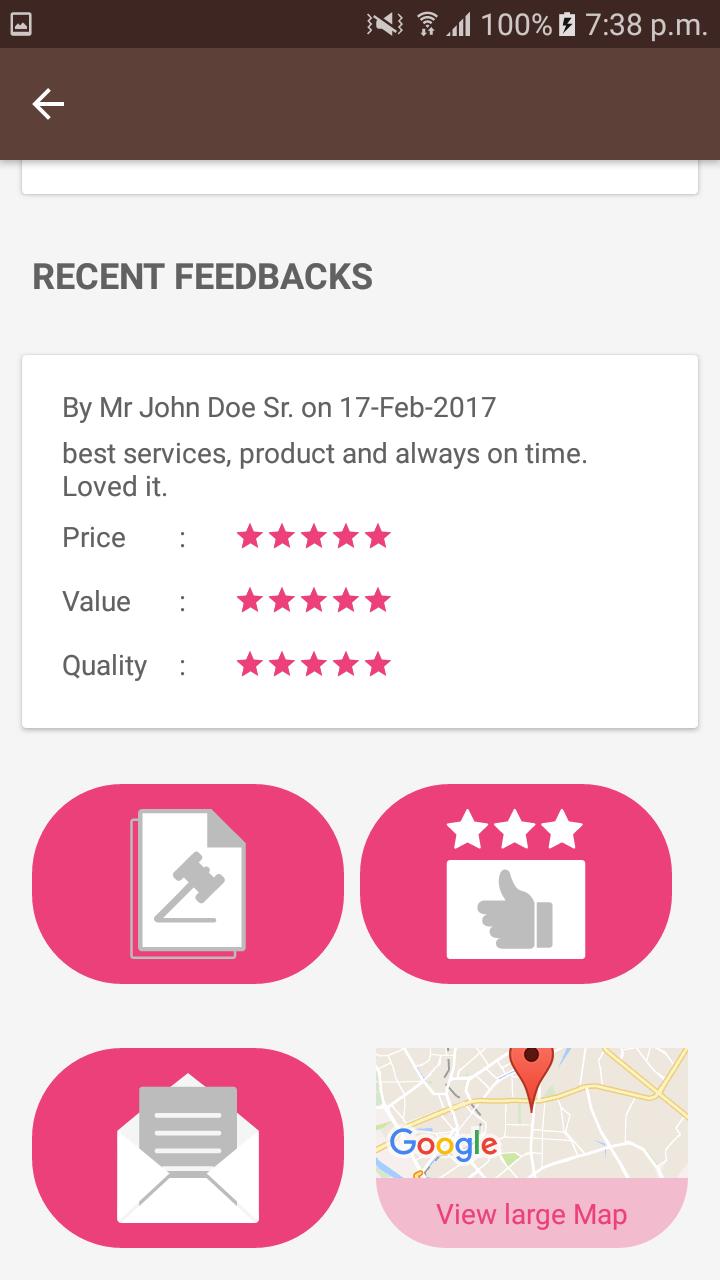 recent feedbacks