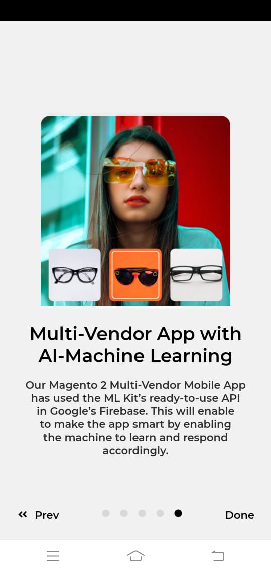 Multivendor App AI Machine learning