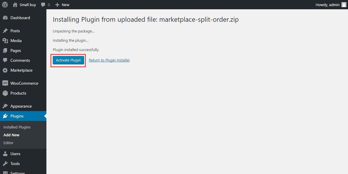 WordPress WooCommerce Marketplace Split Order