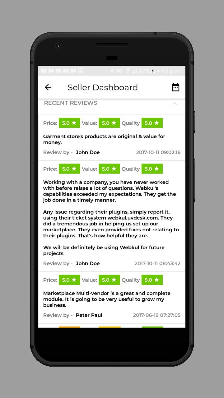webkul-magento2-ecommerce-marketplace-mobile-app-seller-recent-reviews