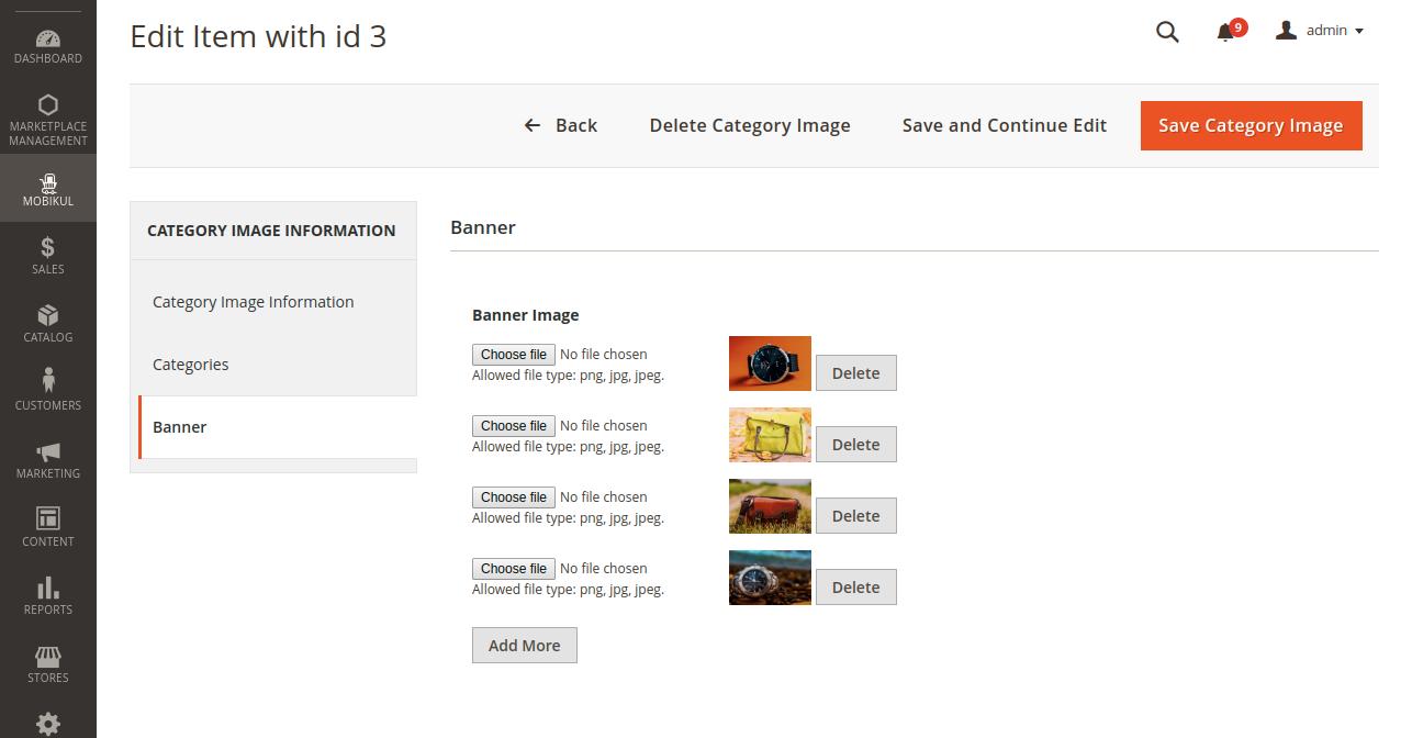 Mobikul mobile app category banner image selection