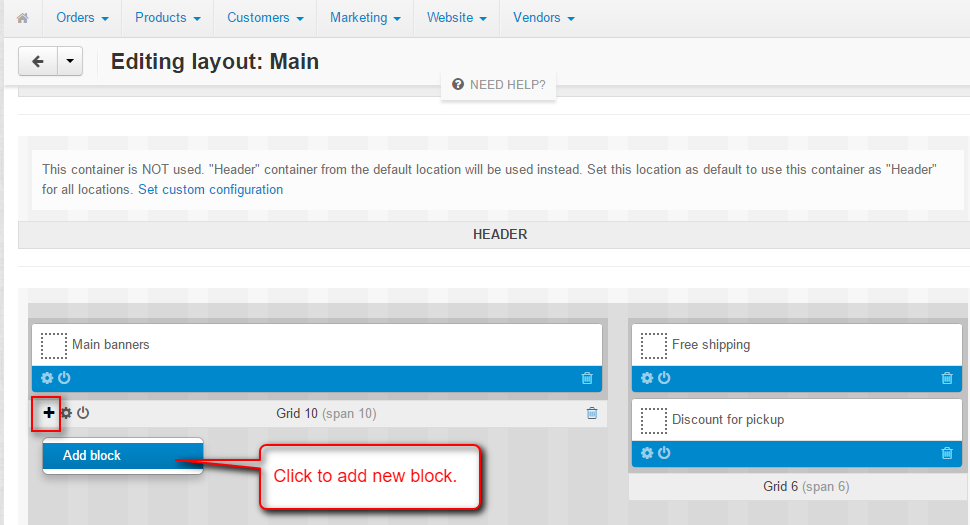 add block
