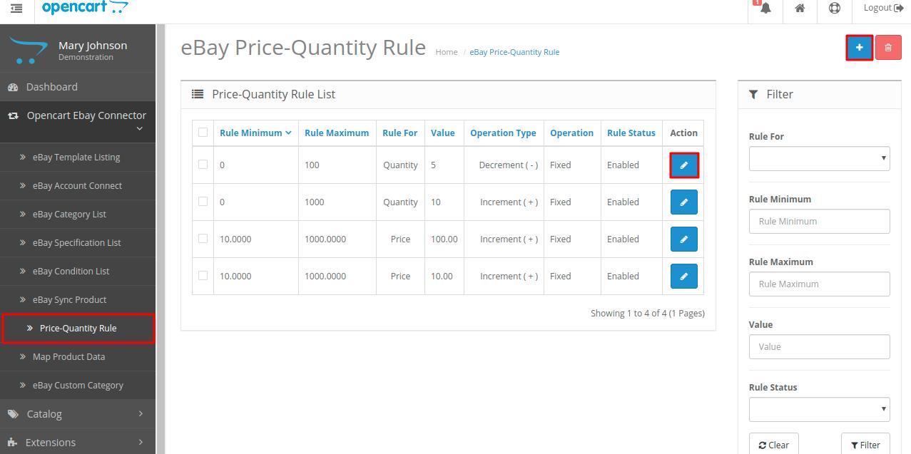 price-quantity-rule