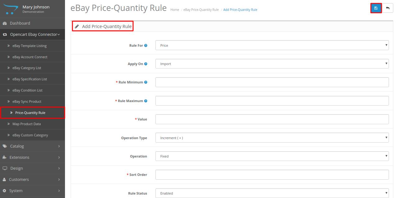 Add-price-quantity-rule