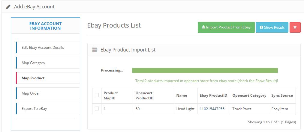 import ebay motors products