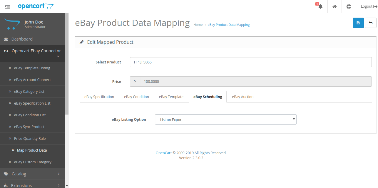 edit mapped product