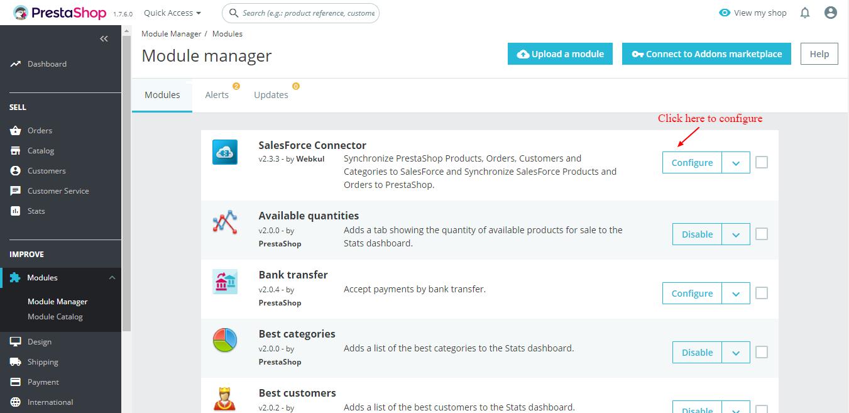 Prestashop Salesforce Connector | Automate Prestashop with
