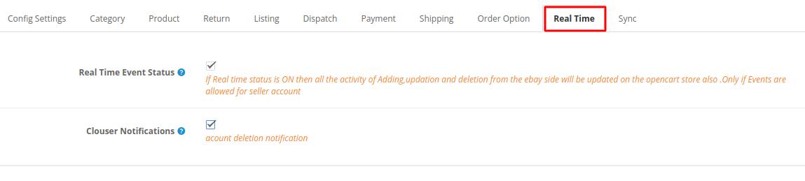 Webkul-opencart-ebayconnector-realtime-option