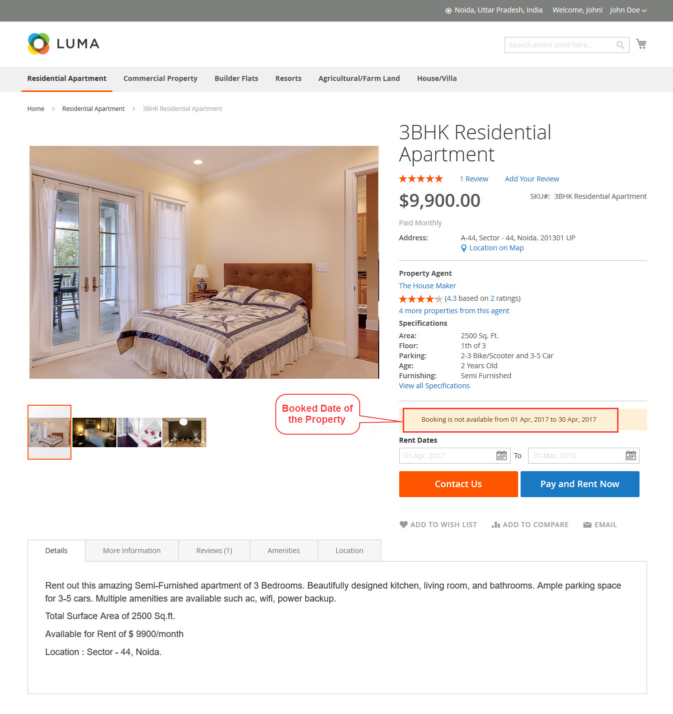 booked property