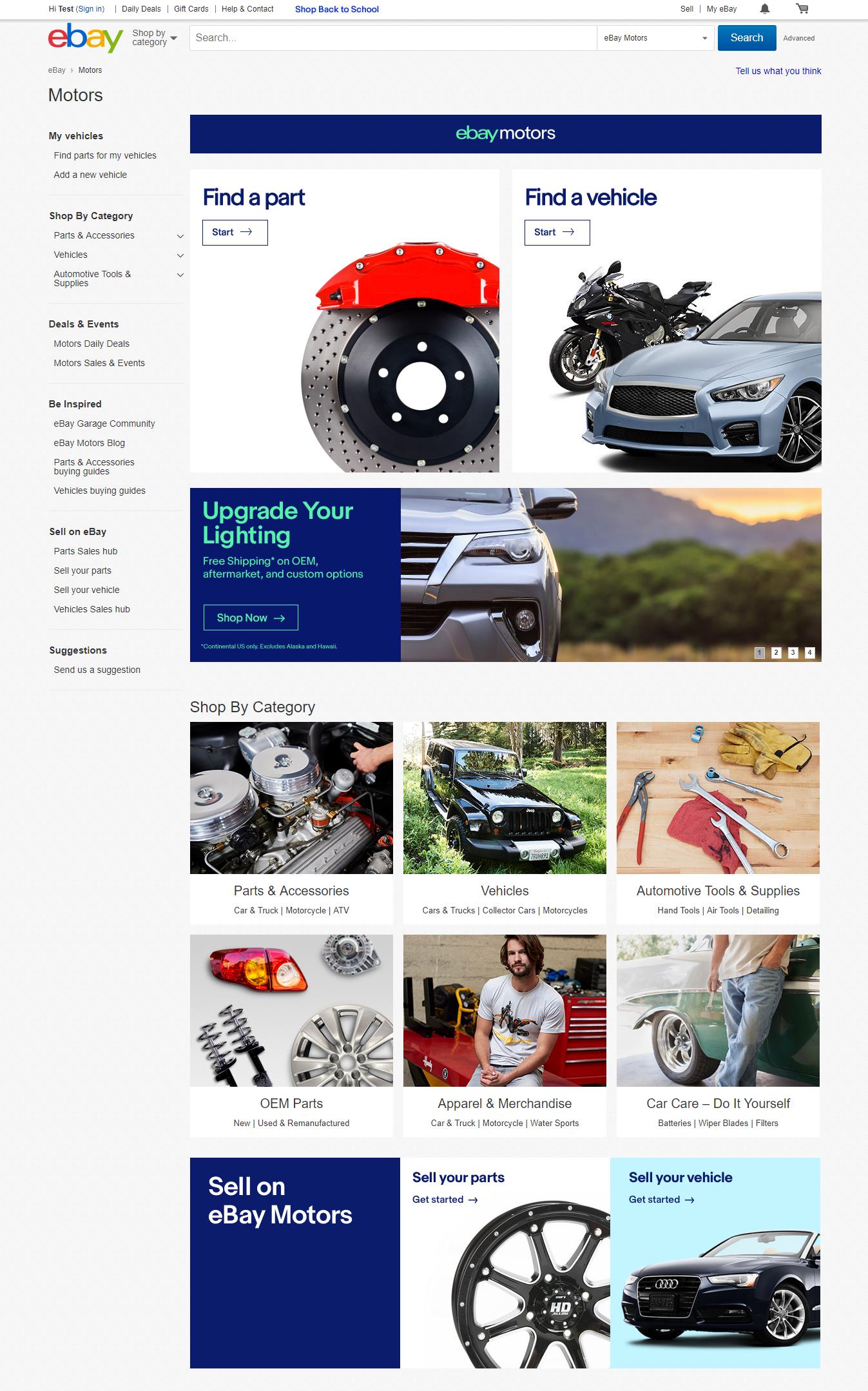 ebay motors homepage