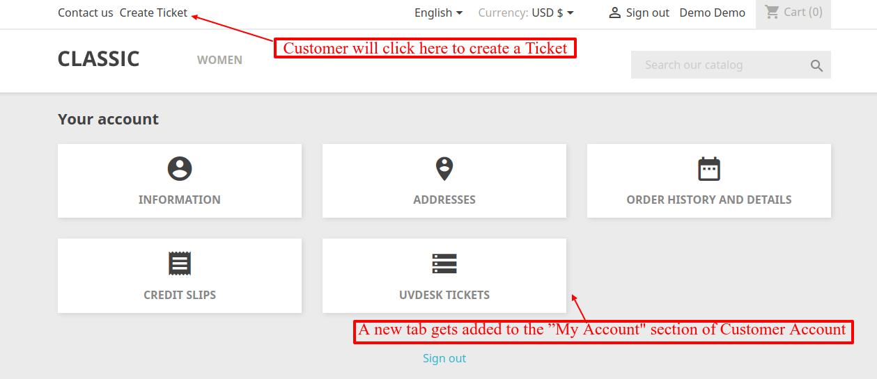 UVdesk PrestaShop Free Helpdesk Ticket System