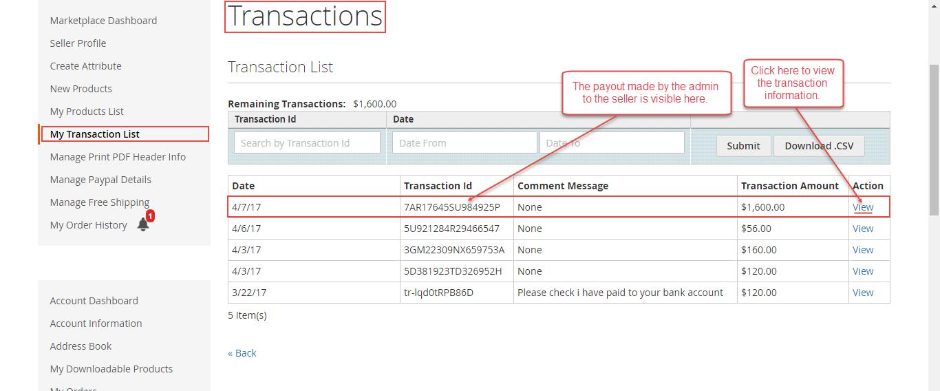Seller-Transaction-List