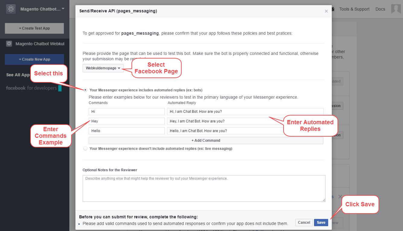 webkul-magento2-facebook-chatbot-review-api
