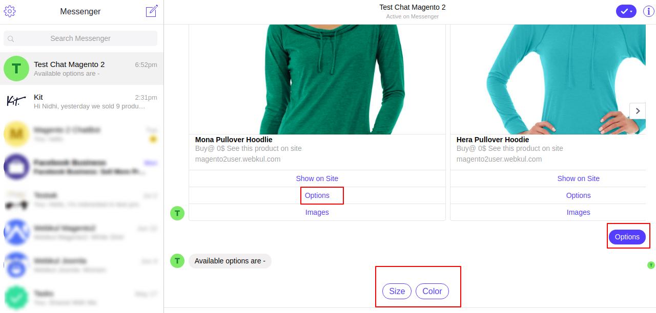 webkul-magento2-chatbot-facebook-show-product-option