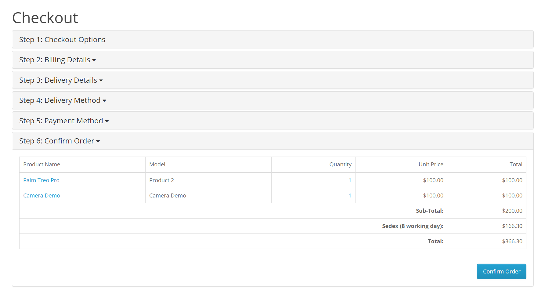 Checkout-orderconfirm