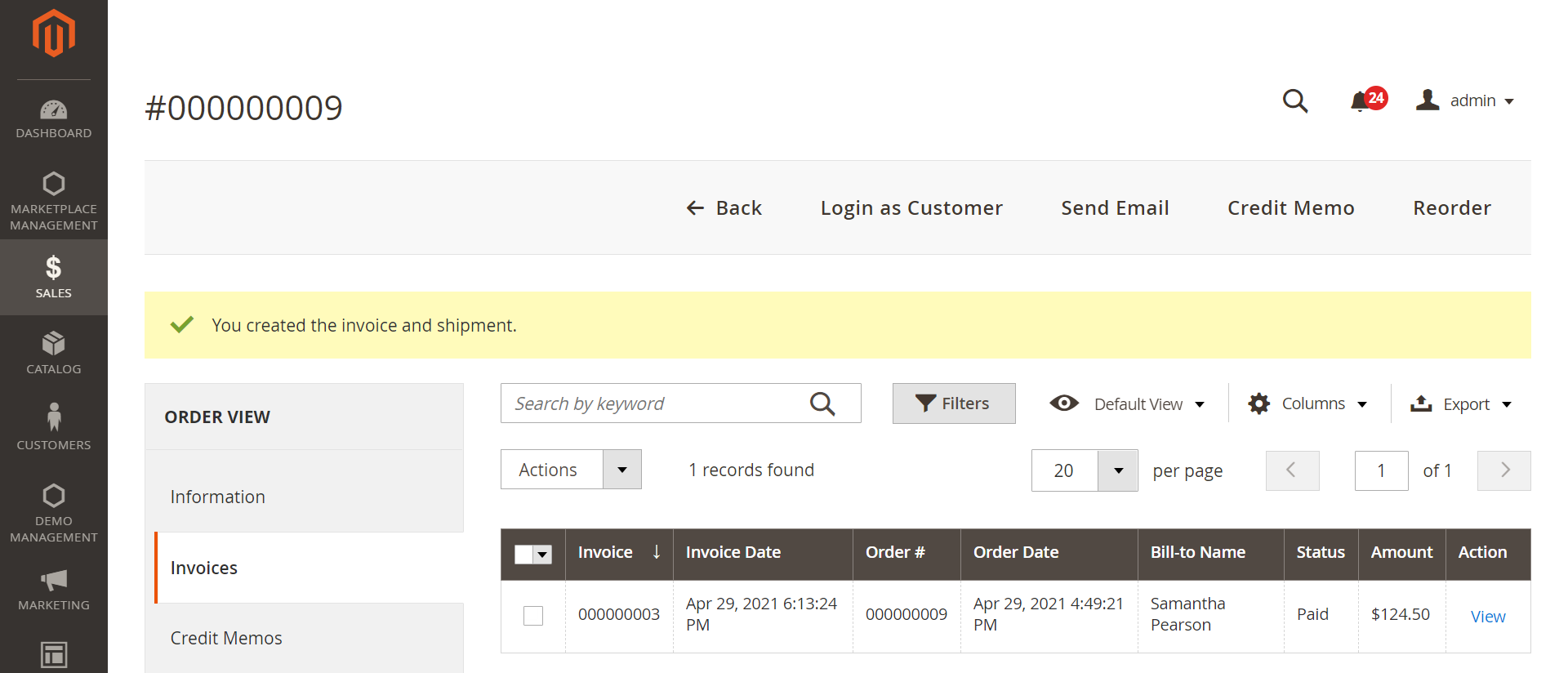 Invoice-Orders-Operations-Sales-Magento-Admin