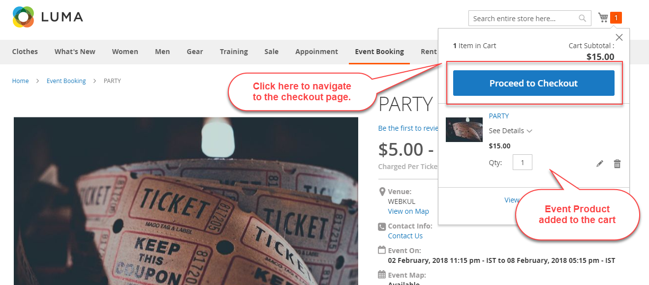 Magento 2 Rental Extension_event booking frontend