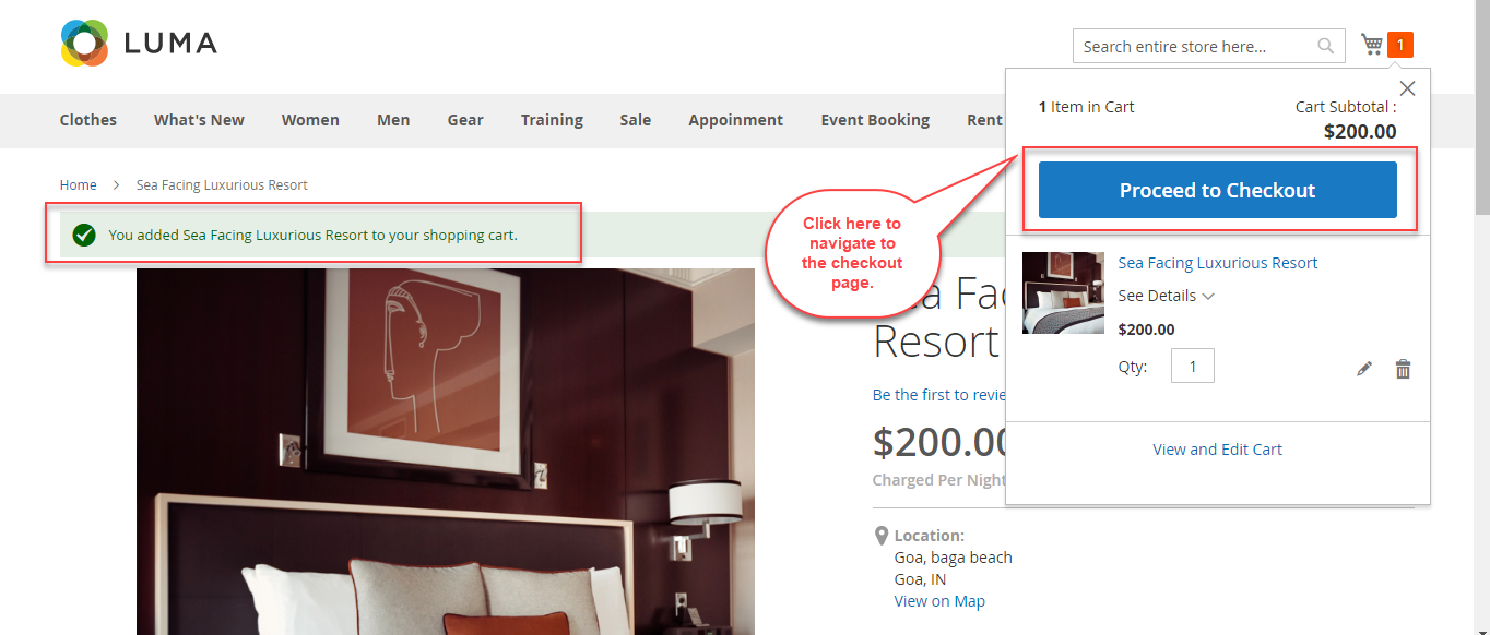 Magento 2 Rental Extension_frontend hotel booking