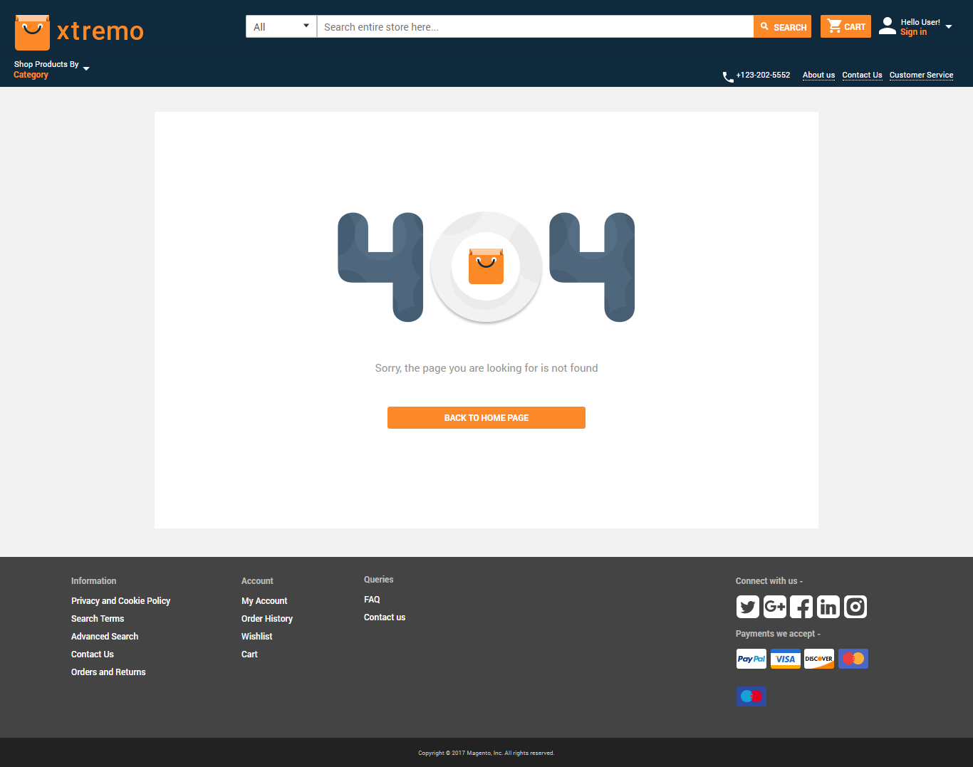 magento2-webkul-xtremo-template-404 error page view