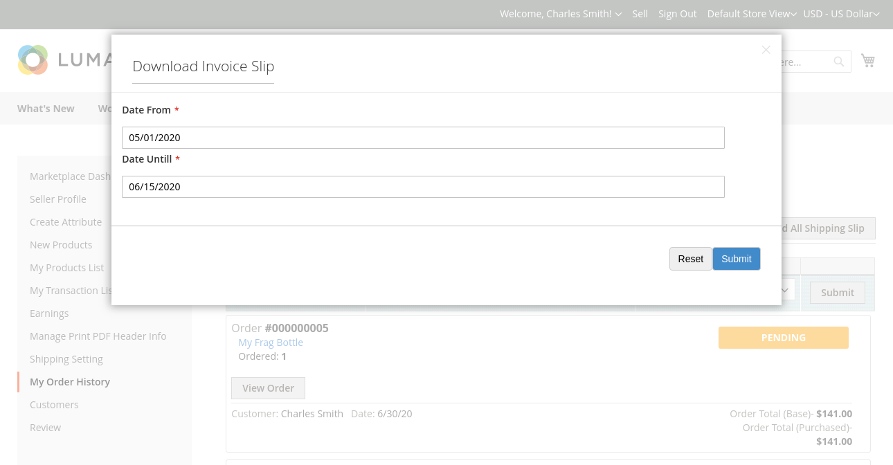 webkul-magento2-marketplace-correios-shipping-download-invoice-slip
