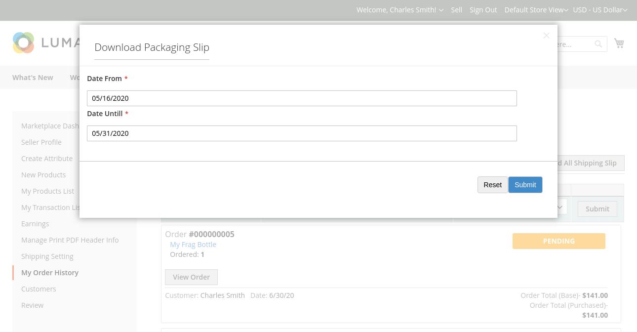 webkul-magento2-marketplace-correios-shipping-download-packaging-slip