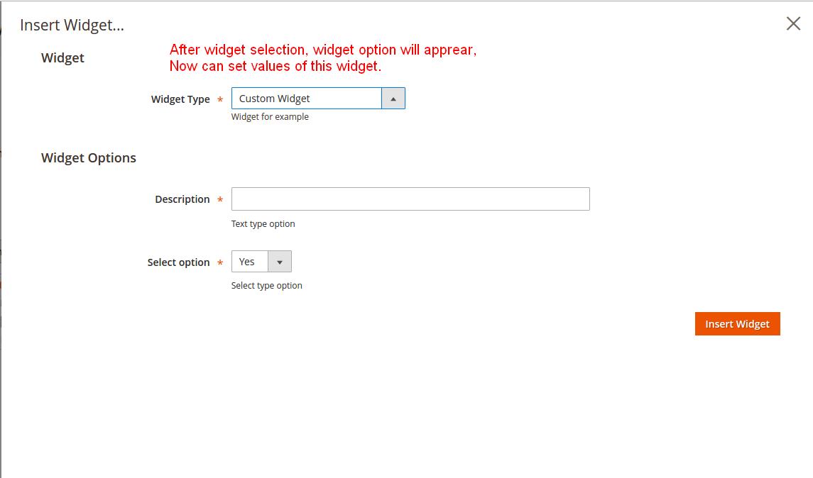 Create custom widget type in magento2 - Webkul Blog